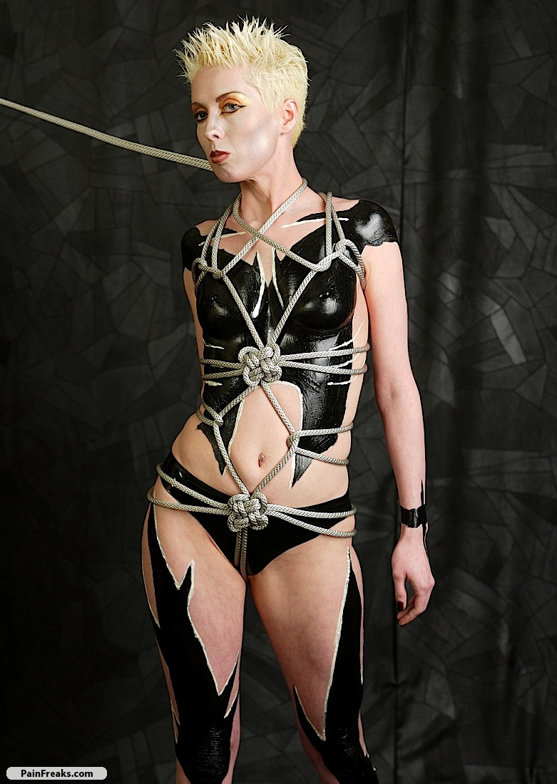 Body Painting with Liquid Latex by Mark Greenawalt