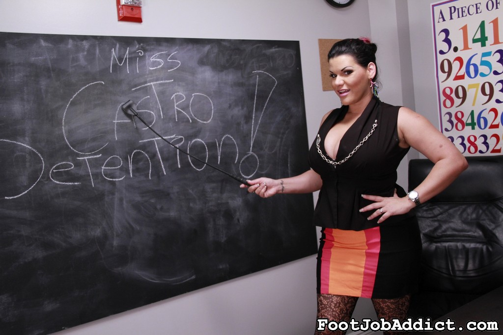 Preview FootJob Addict - Ms. Castro's Detention 76