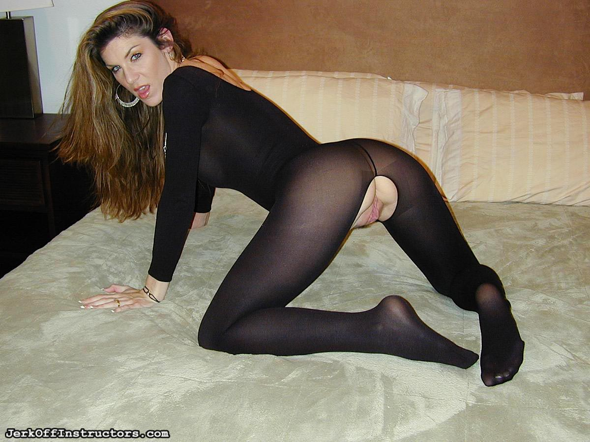 Jerk off inside pantyhose hot!