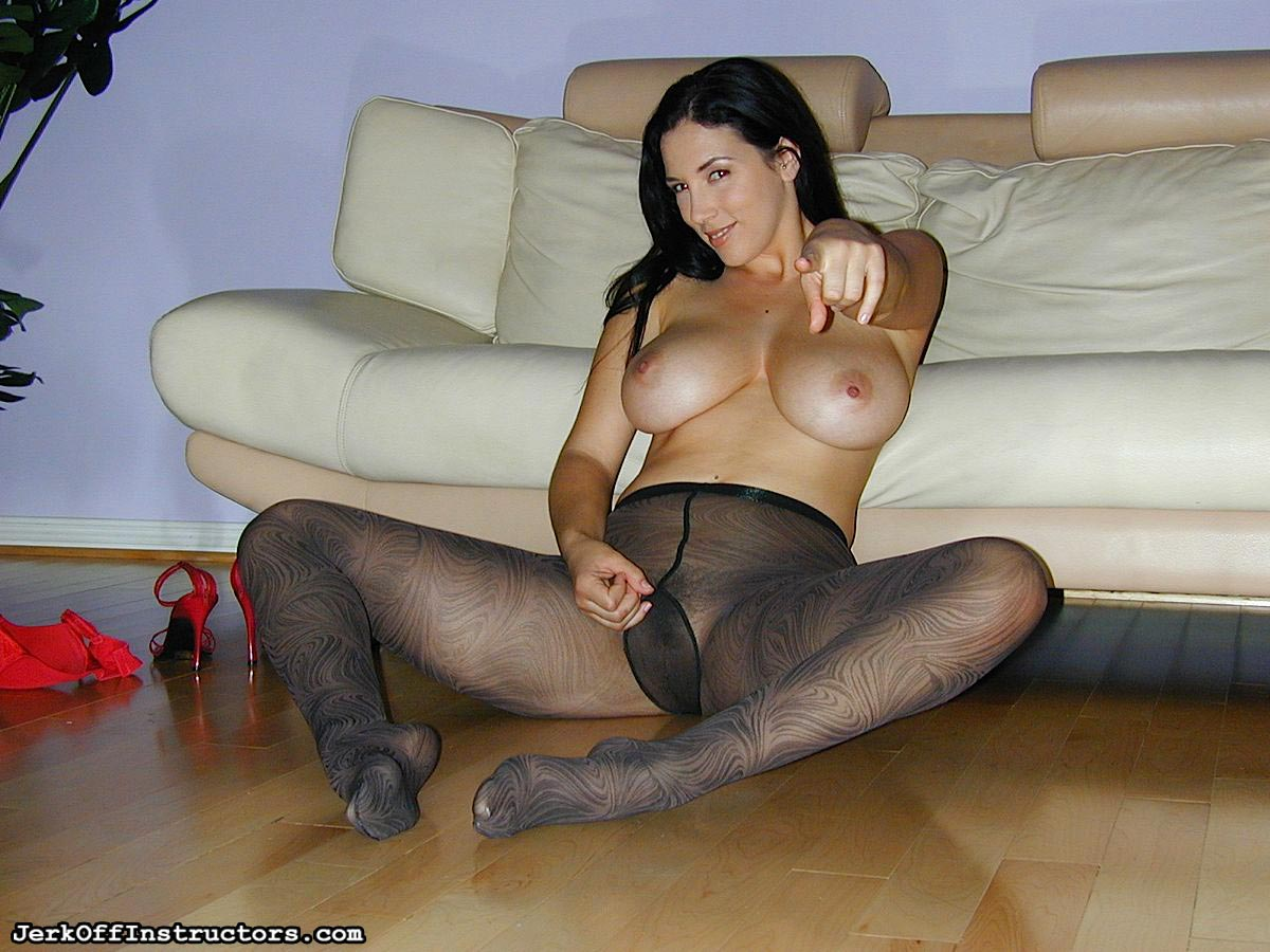 Her jerk off inside pantyhose love receive