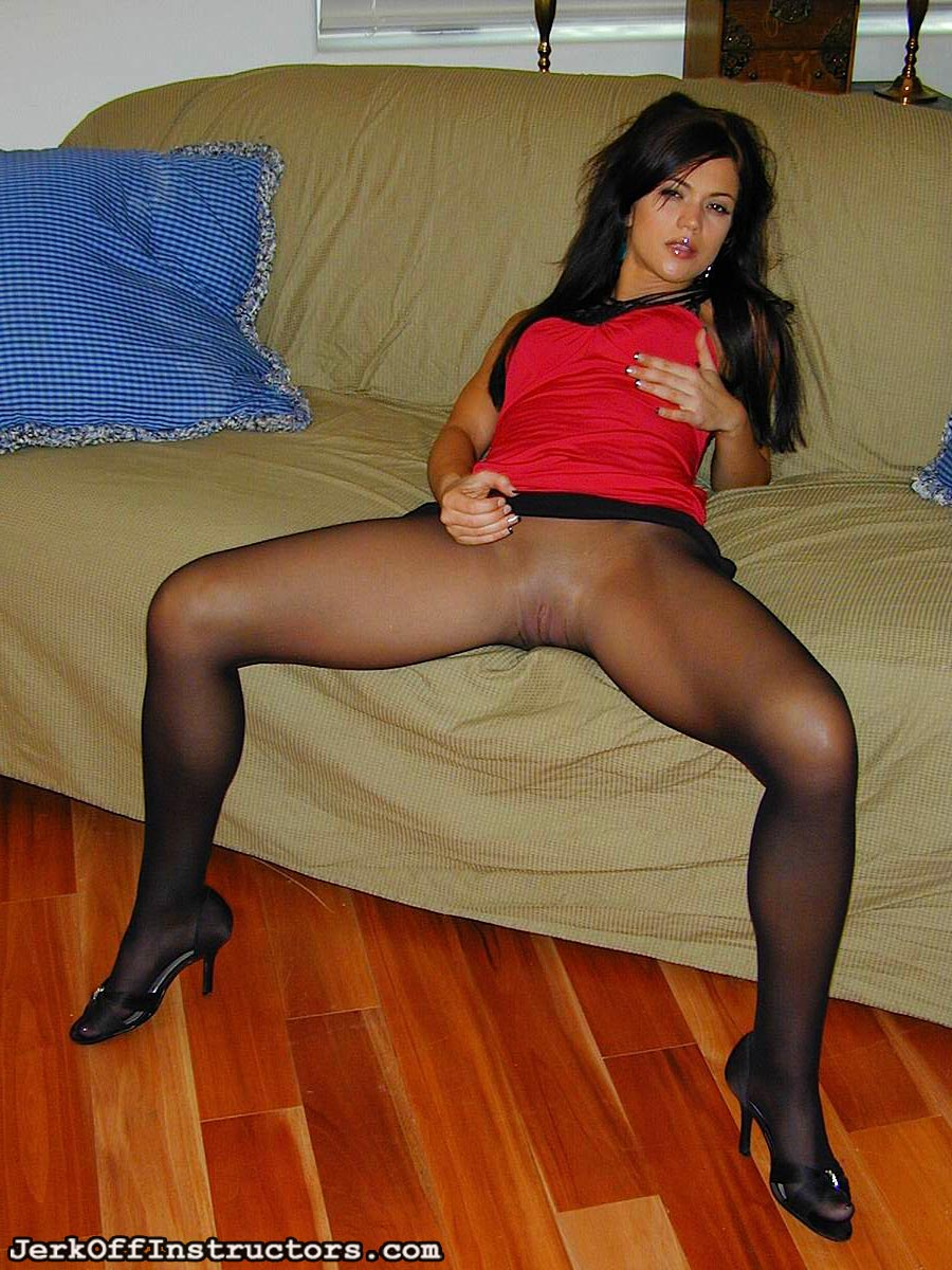 Pantyhose jerk off instructors
