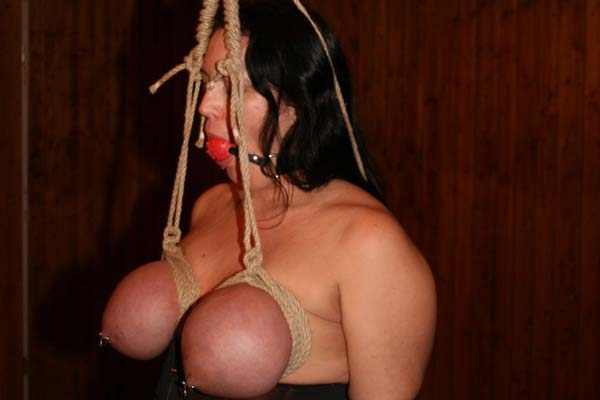 bondage tits Breast