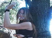 Tied to a Tree Breast Bondage Videos