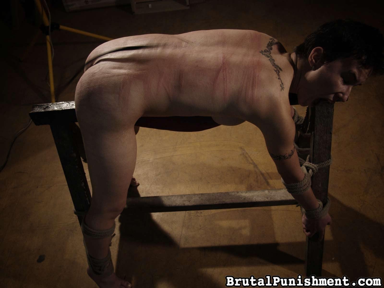 Spanking brutal ass