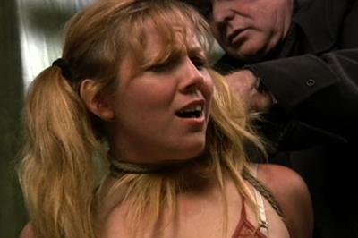 BDSM Library : Lusty Svetlana locked and punished hard!
