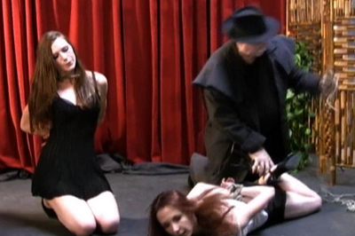 BDSM Library : Amazing hood clip with Sasha and Delilah!