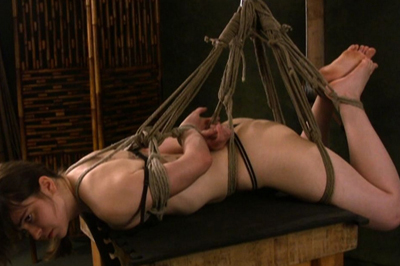 BDSM Library : Hogtied Maya in top rated bondage movie!