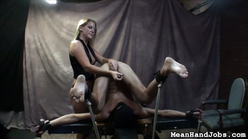 Preview Mean HandJobs - Ashley Edmonds Humiliates her Sex Slave with Self Facial