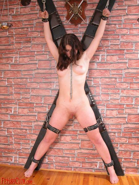 01 Free Anorexic Girls Bdsm Pics   Cross Bound and Clamped