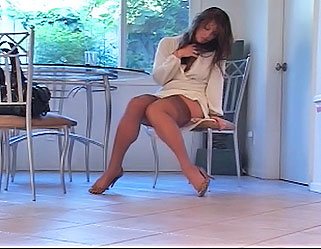04 Women Wearing Pvc And Fishnet And Fucking   Brunettes Start of Day TransPantyhose :: Crys de Mullg great pantyhose shemale chick