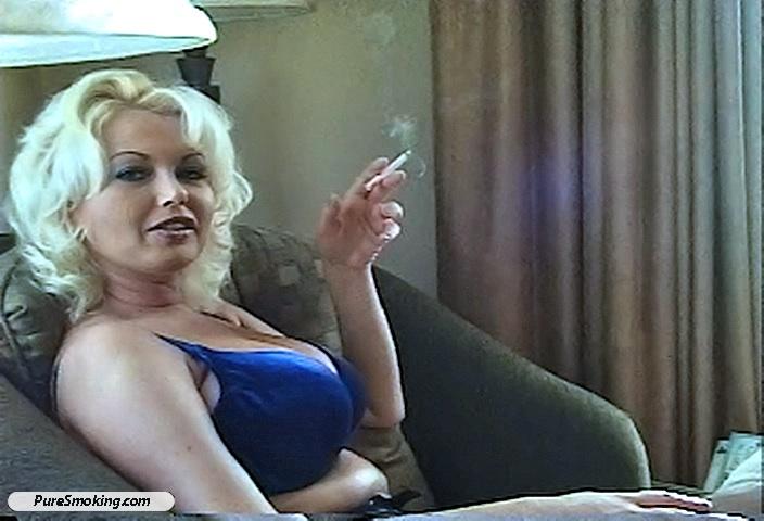 Very sexy clenching cigarette smoking fetish dangle sexy