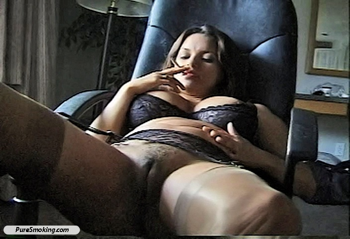 Clenching cigarette smoking fetish dangle