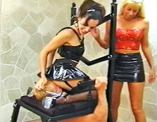 02 Femdom Fingered Strapon Pics   Throne for the Queens