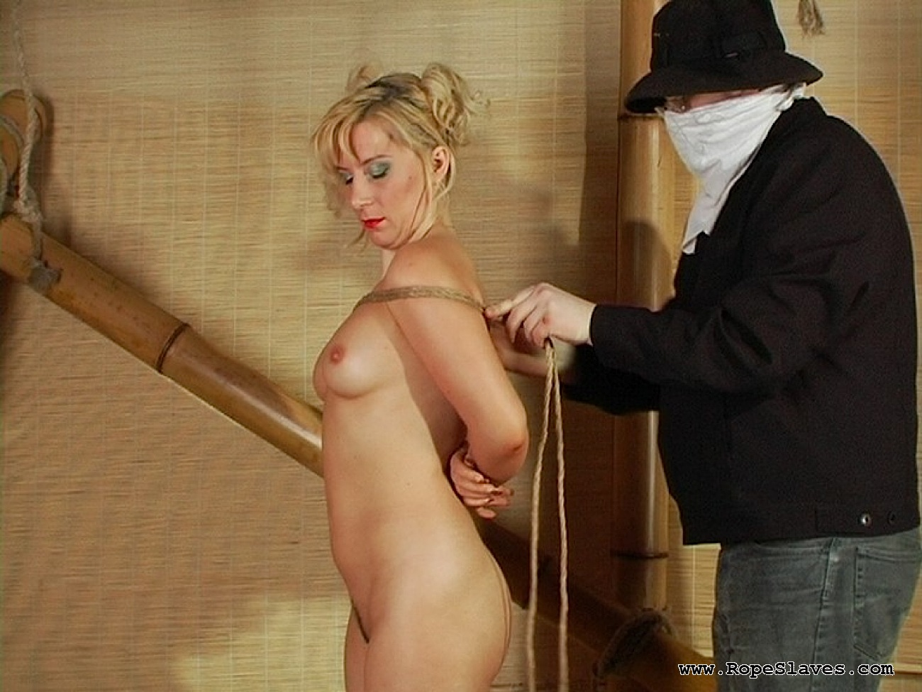 01 Submissive Sex Slave Inspection - Obedient Blond Bound