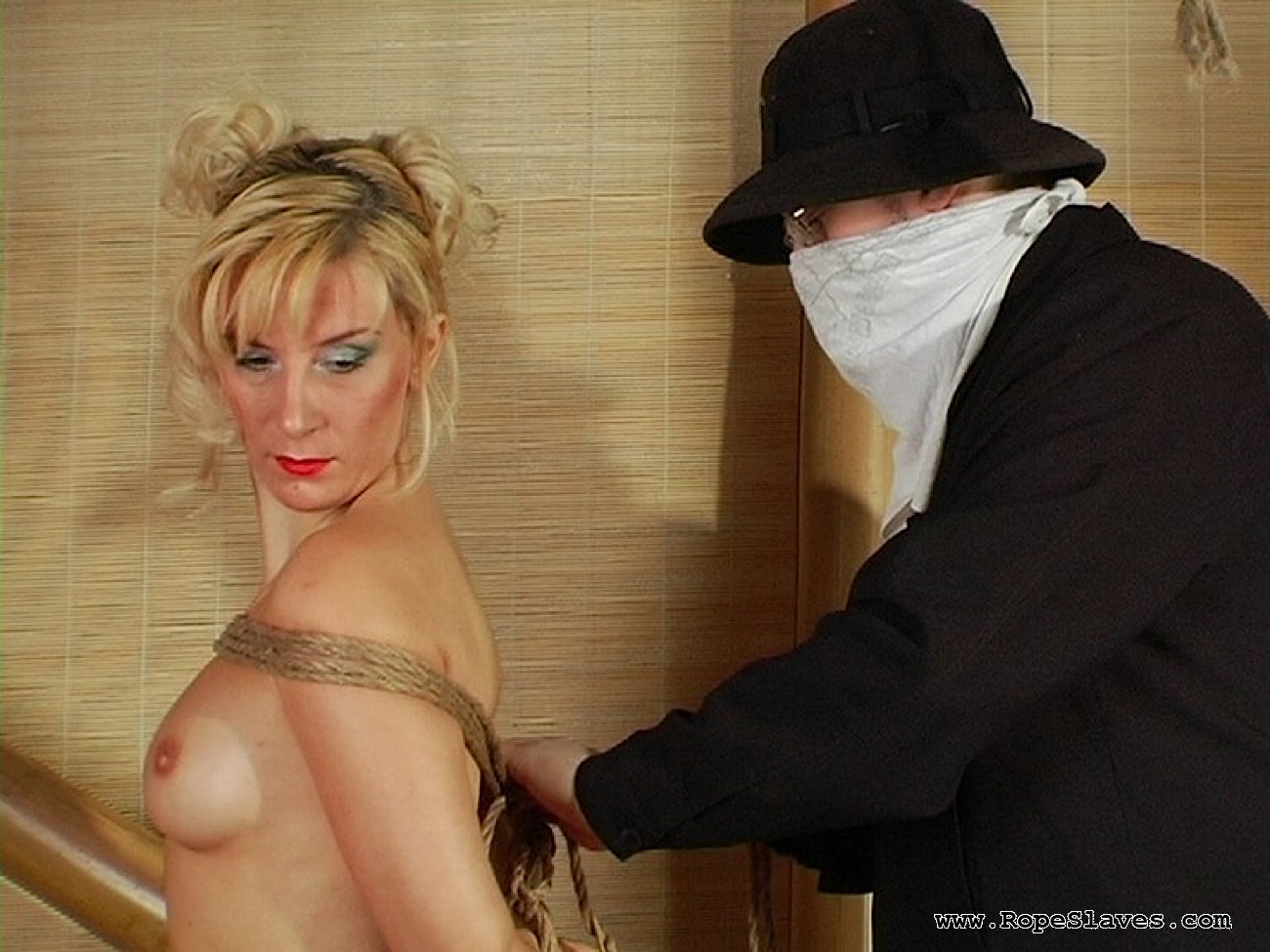02 Submissive Sex Slave Inspection - Obedient Blond Bound