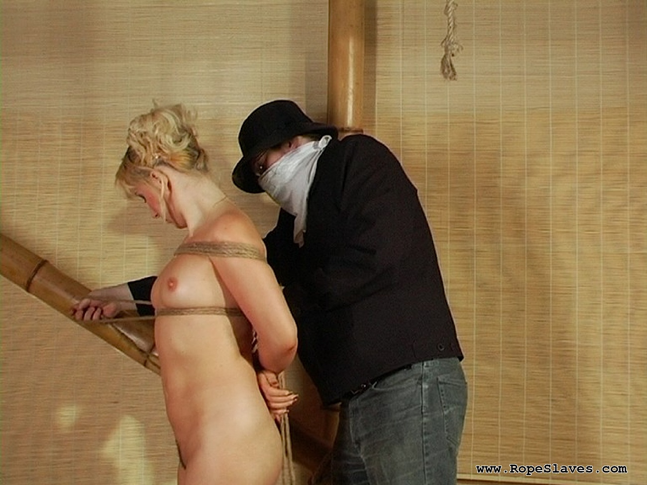 03 Submissive Sex Slave Inspection - Obedient Blond Bound