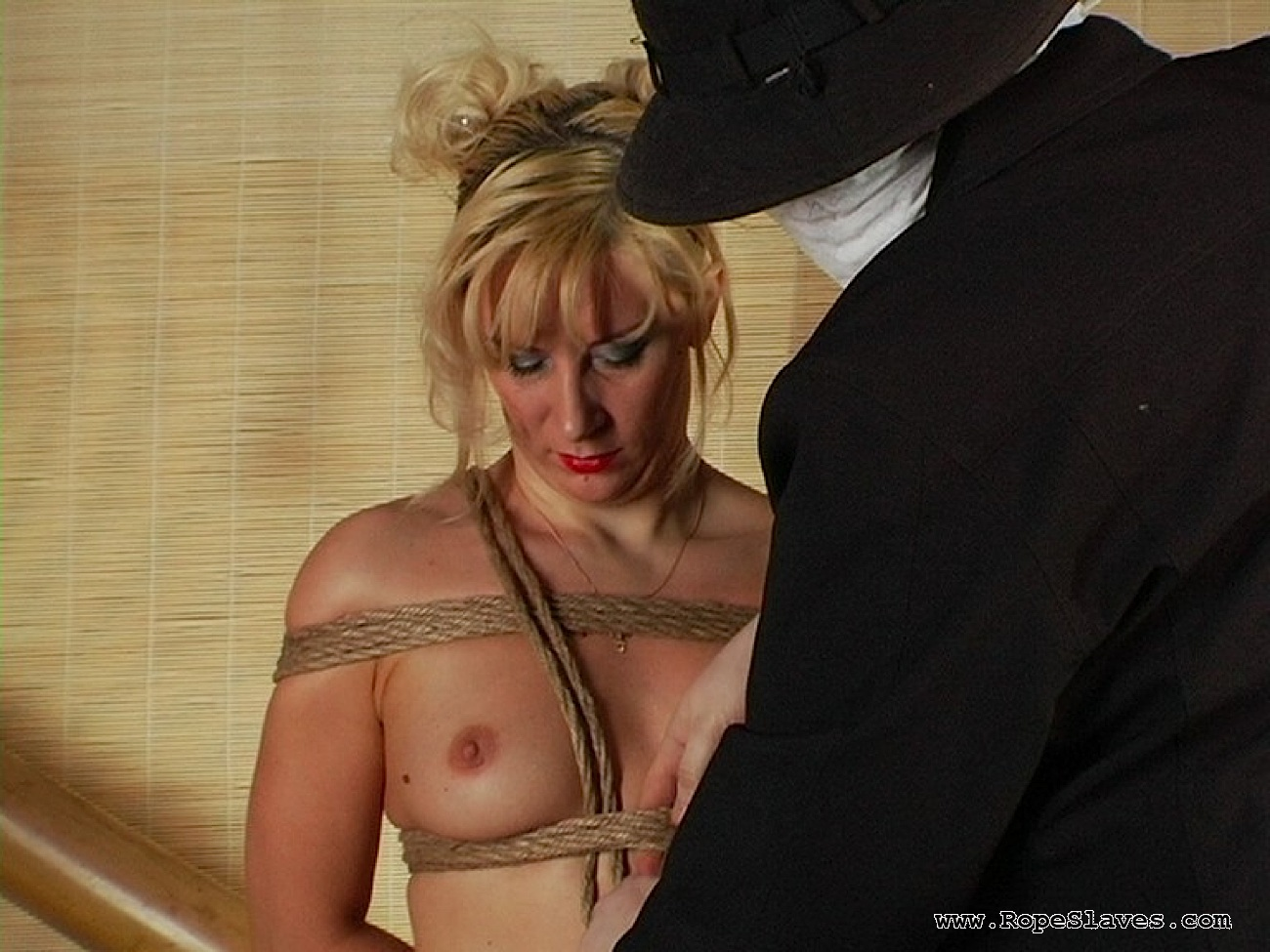 04 Submissive Sex Slave Inspection - Obedient Blond Bound
