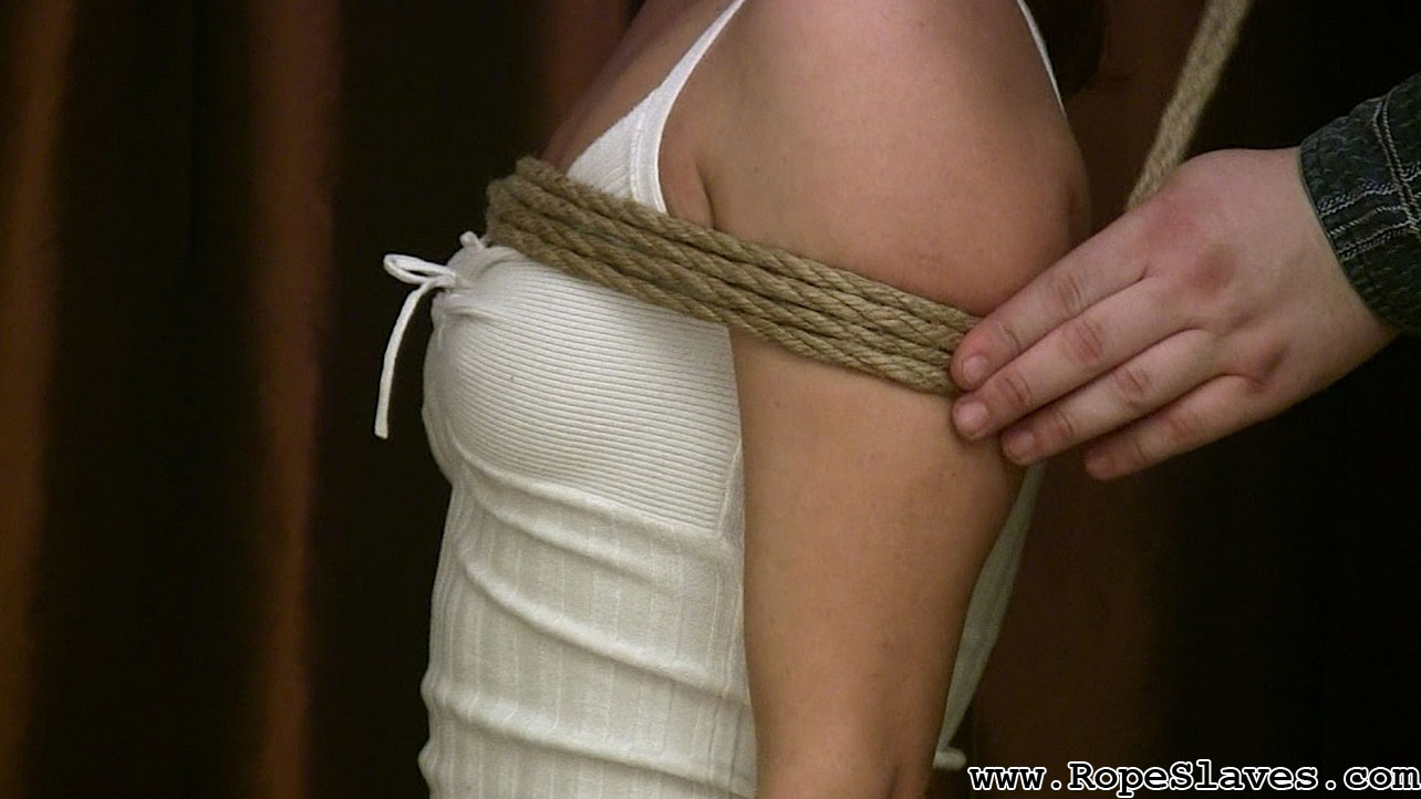 Hard rope bondage and orgasm torture