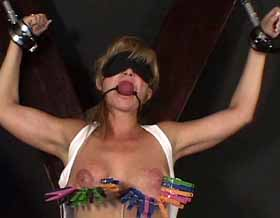 04 Suspended By Bound Breasts   JJ WhippedWomen.com   where beauty meets pain
